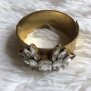 5/$25 J. Crew Gold Jeweled Bangle Bracelet